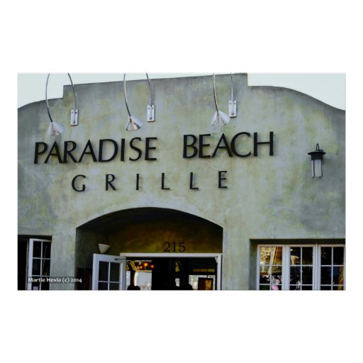Paradise Beach Grille Poster