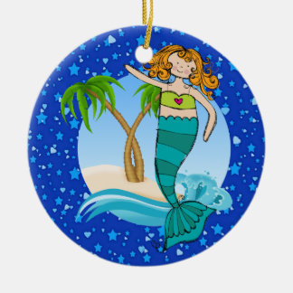 Paradise Beach Mermaid - Tag / Ornament - SRF
