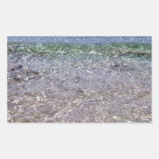 Paradise beach rectangular sticker