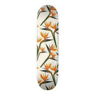 Paradise Bird Flower Pattern 20 Cm Skateboard Deck