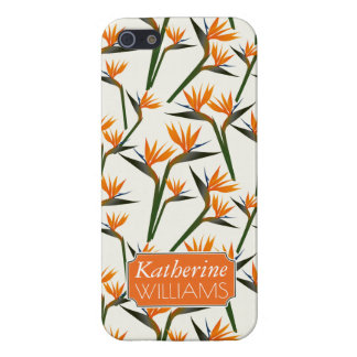 Paradise Bird Flower Pattern | Add Your Name iPhone 5/5S Cover