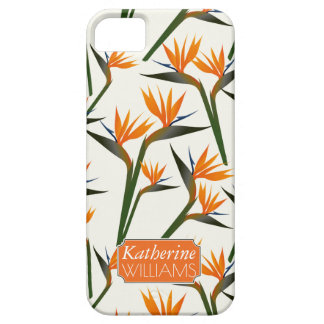 Paradise Bird Flower Pattern | Add Your Name iPhone 5 Case