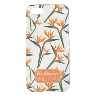 Paradise Bird Flower Pattern | Add Your Name iPhone 8/7 Case