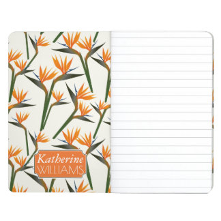Paradise Bird Flower Pattern | Add Your Name Journal