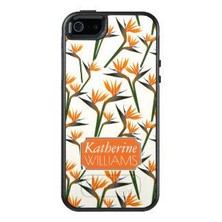 Paradise Bird Flower Pattern | Add Your Name OtterBox iPhone 5/5s/SE Case