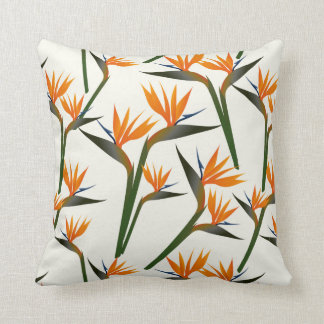 Paradise Bird Flower Pattern Cushion