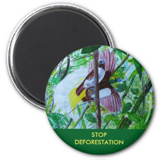 Paradise Birds Global Warming Message Magnet