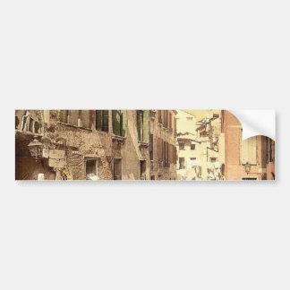 Paradise Bridge, Venice, Italy classic Photochrom Bumper Sticker