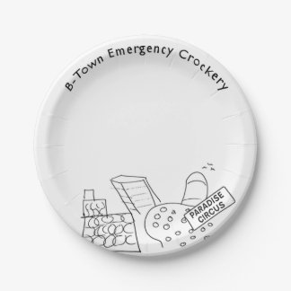 Paradise Circus B-Town Emergency Plate 7 Inch Paper Plate