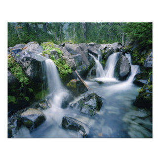 Paradise Creek flows down slopes of Mount Photographic Print