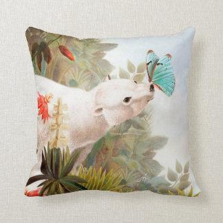 Paradise draws throw pillow