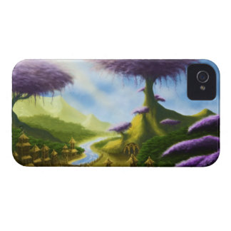 paradise fantasy landscape blackberry case