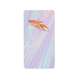 Paradise Fish. Label