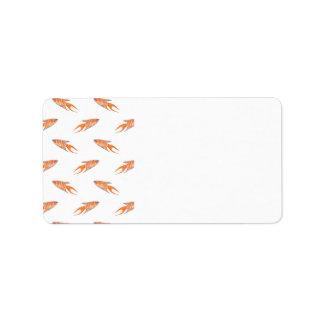 Paradise Fish Pattern. Label