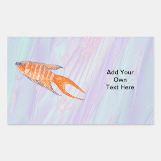 Paradise Fish. Rectangular Sticker