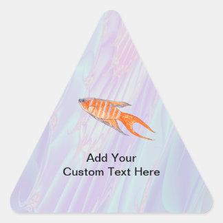 Paradise Fish. Triangle Sticker
