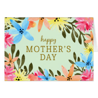 Paradise Floral Mother's Day Card