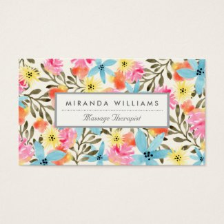 Paradise Floral Print Business Card