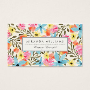 Hawaii business cards business card printing zazzle uk paradise floral print business card reheart Images
