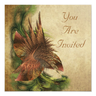 Paradise Flower Fractal Invitations