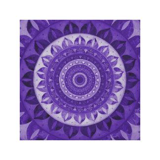 Paradise flower mandala canvas print