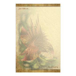 Paradise Fractal Flower Notepaper Stationery