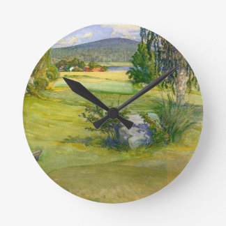 Paradise in Sweden 1910 Round Clock
