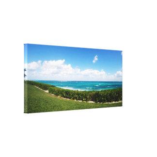 Paradise Island Beach   Panoramic View Canvas Print