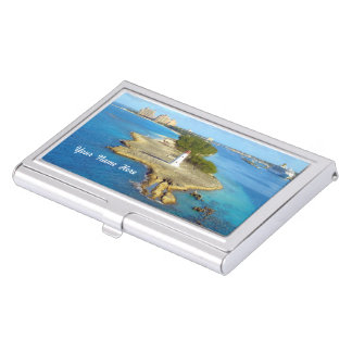 Paradise Island Light Custom Case For Business Cards