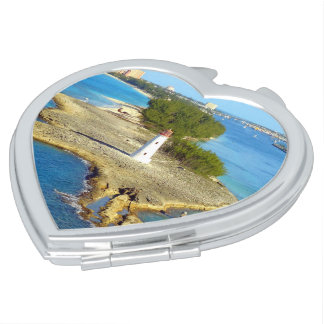 Paradise Island Light Heart Shape Mirror For Makeup