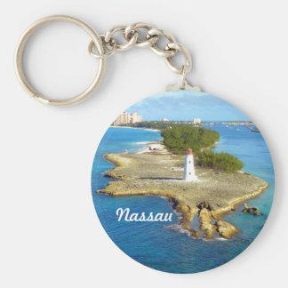 Paradise Island Light Basic Round Button Key Ring