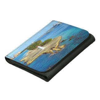 Paradise Island Light Leather Tri-fold Wallet