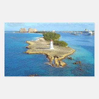 Paradise Island Light Rectangular Sticker