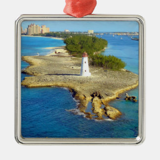 Paradise Island Light Silver-Colored Square Decoration