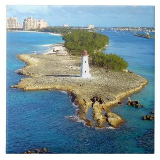 Paradise Island Light Large Square Tile