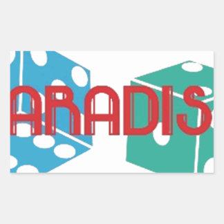 PARADISE.jpg Rectangular Sticker