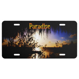 Paradise License Plate