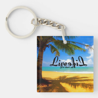 Paradise LiveLife Brand Key Chain