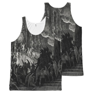 Paradise Lost Gustave Dore Angels Demons Print All-Over Print Tank Top