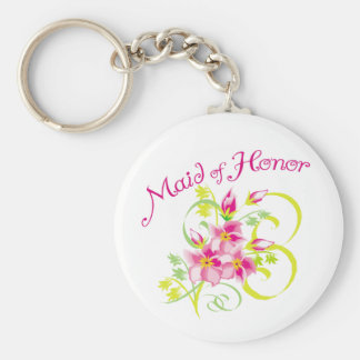 Paradise Maid of Honor Favors Keychains