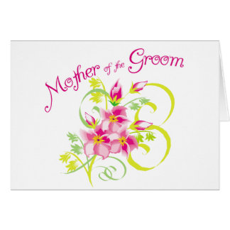 Paradise Mother of the Groom Gifts Greeting Card