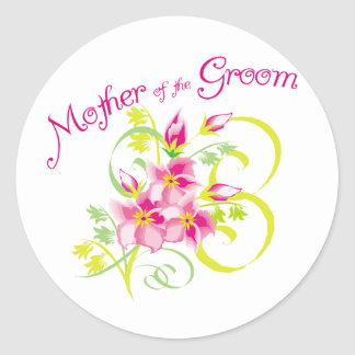 Paradise Mother of the Groom Gifts Round Sticker