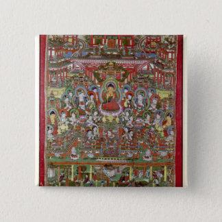Paradise of Amitabha 15 Cm Square Badge