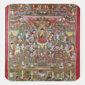 Paradise of Amitabha Square Sticker