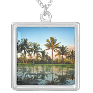 Paradise Palm Trees necklace