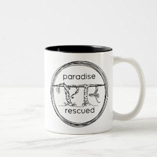 Paradise Rescued Coffee Mug - Black logo on White