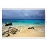 Paradise tropical island beach greeting card