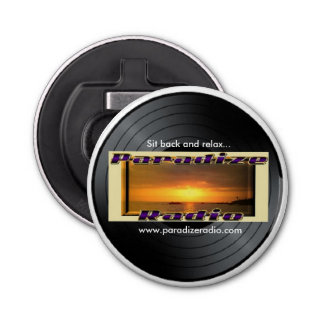 (Paradize Vinyl/Record) Magnet with bottle opener
