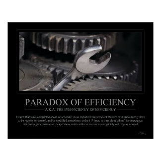 Paradox of Efficiency Poster - Large