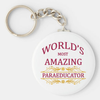 Paraeducator Basic Round Button Key Ring